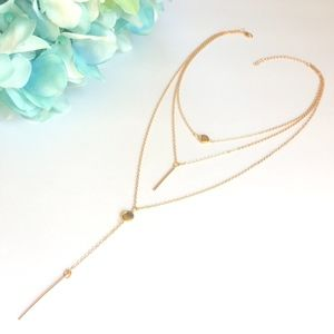 'Calista' Multilayered Necklace Gold